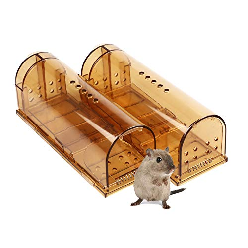 Acmind Humane Smart Mouse Trap That Work No Kill Mice Catcher Indoor Outdoor Small Mice Traps Live Catch and Release, Easy to Set and Reusable, Safe for People and Pets, 2 Pack