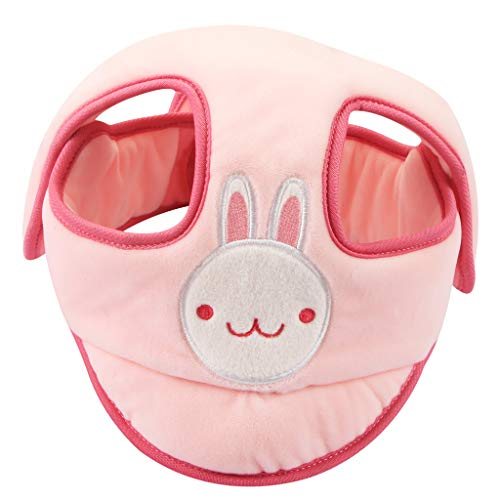 AIPINQI Toddler Head Protector, Baby Safety Helmet Adjustable Infant Helmet Baby Protective Helmet Baby Head Cap Breathable headguard for Baby Learn to Walk,Pink