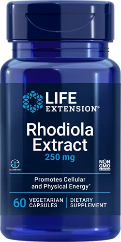 Life Extension Rhodiola Extract (3% Rosavins) 250 Mg, 60 Vegetarian Capsules (Packaging May Vary)