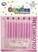 CANDLES FOR EVERYONE 431150 Colourflame Candle Pink With Holders P10