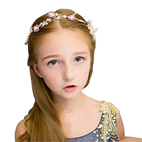 &Coiffe de corolle Fleur de fleur d'enfant, Bandeau Fleur Guirlandes Fête de mariée à la main à la main Fierté Bandeau Bracelet Bande de cheveux ( Couleur : Multicolore )