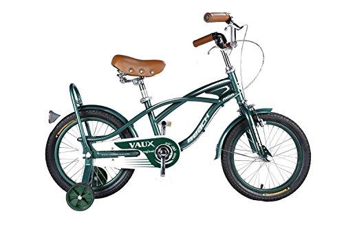Vaux Beach Cruiser European Fashion Kids Bicycle (16T, Green)