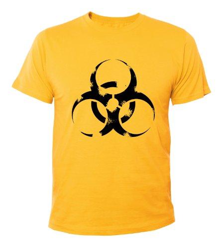 Mister Merchandise Cooles Herren T-Shirt Biohazard, Größe: M, Farbe: Gelb