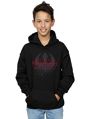 Star Wars Jungen The Last Jedi Shattered Emblem Kapuzenpullover 12-13 Years Schwarz