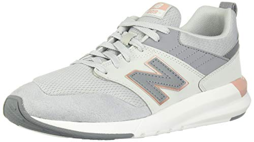 New Balance Women's 009 V1 Sneaker, Light Aluminum/Rose Gold/Gunmetal, 12 M US