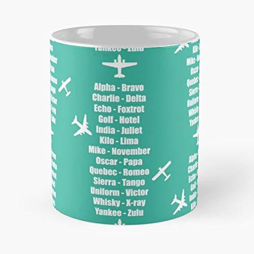 Phonetic Alphabet Radio Plane Planes Aeroplane Spotter Propeller Aero Sexual Head Aviation - Best 11 oz Kaffee-Becher - Tasse Kaffee Motive