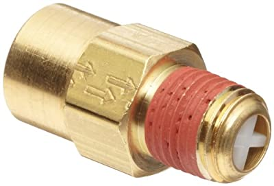 """Control Devices Brass Ball Check Valve, 1/4"""" NPT Female x NPT Male by Control Devices"""