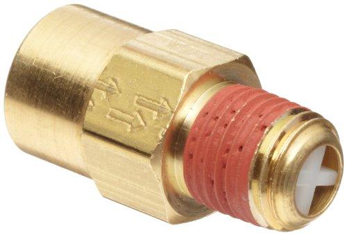 Control Devices P2525-1WA Brass Ball Check Valve, 1/4' NPT Female x NPT Male