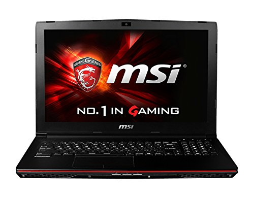 MSI GP62-2QEi581 0016J3-SKU1010  39,6 cm (15,6 Zoll) Laptop (Intel Core i5 4210H, 8GB RAM, 1TB HDD, NVIDIA GeForce GTX 950M, Win 10 Home) schwarz