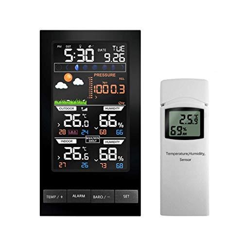 Inicio Monitoreo del Tiempo Relojes Multi-función Reloj de Tiempo Inicio Electrónico Despertador de Pantalla de Color Temperatura Y Humedad Medidor Estación Meteorológica Estaciones Meteorológicas