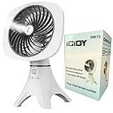 IGIDY Small Personal Desk USB Fan, Mini Fan,Mist Fan,Rechargeable Fan for Home, Office, Outdoor Travel