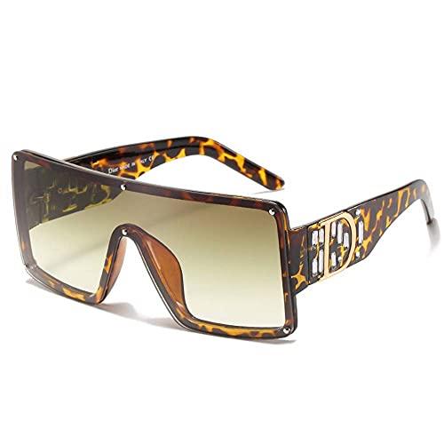 MU-PPX Gafas De Sol para Mujer Gafas De Sol con Montura Cuadrada Grande Gafas De Sol Polarizadas con Protección Uv400 Vintage Shades para Mujer
