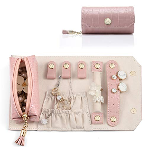 Vlando Small Travel Jewelry Roll Bag Organizer