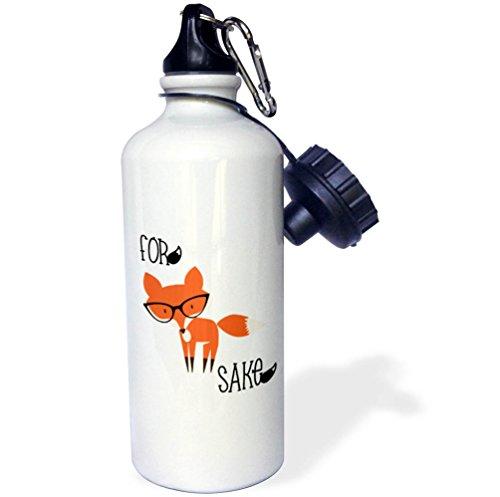 3dRose 7480_1 wb_270951_2 Botella de agua, color blanco