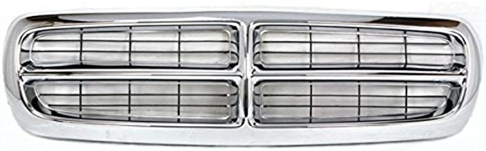 Koolzap For 97-04 Dakota Pickup Truck Front Chrome Grill Grille Assembly CH1200199 55056092