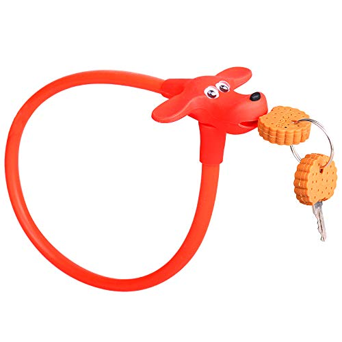 anruo Kinderfiets kabelslot draad;anti-diefstal fietsslot;kinderfietsaccessoires, fietsslot,