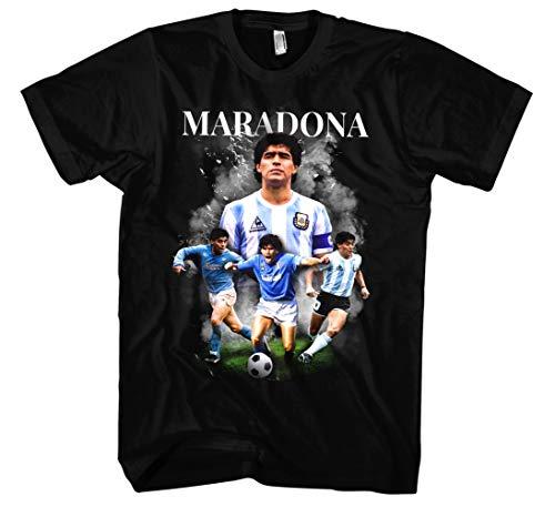 Diego Maradona T-Shirt   Maradona Trikot Shirt Argentinien Trikot Herren Tshirt   M2 (XL)