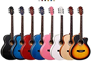 New Professional Acoustic Callaway Folk 40 inch Guitar STAGE ESSENTIALS (Wood)