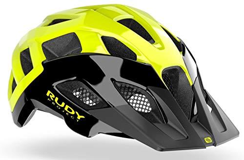 Rudy Project Casco da crossway Black/Yellow Fluo Shiny, circonferenza testa L, 59-61 cm, 2021