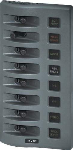 Blue Sea Systems - 4308 Switch Panel WD 12VDC 8 POS CP
