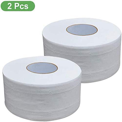 HDOUBR 4 Plis Jumbo Rouleau Papier Toilette 2 Gros Rouleau Super Doux Papier De Bain Naturel Ménage Rouleau De Papier Toilette Forte Absorption D'eau
