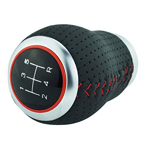 Abfer 5速シフト・カーノブ ーシフトノブ・PU シフターノブ・自動手動車両汎用 変速用 MT AT車用品 インテリア (赤い線)