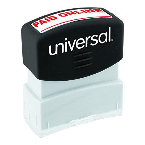 Universal 10156 Message Stamp, PAID ONLINE, Pre-Inked One-Color, Red
