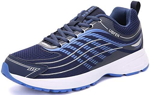 UBFEN Laufschuhe Herren Damen Turnschuhe Fitness Schuhe,43 EU,Blau