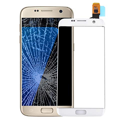 Dongdexiu Accesorio de Repuesto For Samsung Galaxy S7 Edge / G9350 / G935F / G935A Touch Screen Digitizer (Color : Blanco)