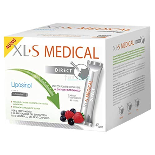 3X XLS MEDICAL Liposinol Direct - Integratore Alimentare che Aiuta a Ridurre il Peso Corporeo - 270 Sticks
