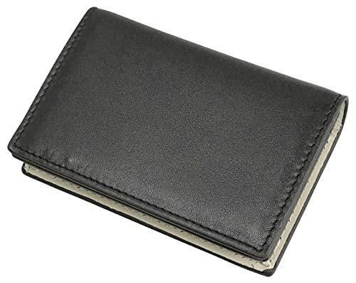 [フロックス] 名刺入れ カードケース 名刺ケース カード入れ 定期入れ パスケース 本革 革 レザー 大容量 ブランド 人気 メンズ レディース (ブラウン)