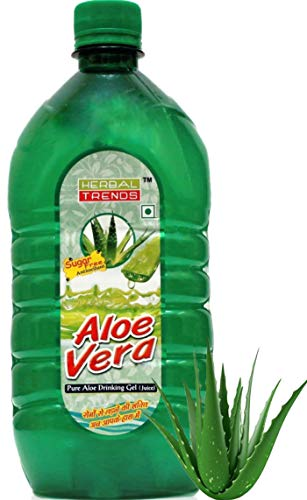 HERBAL TRENDS Pure Aloe Vera Drinking Juice with Pulp -1 Litre- 30days Fresh guaranteed -Direct from Cultivator & Manufacturer of Aloe Vera -Himachal Pradesh