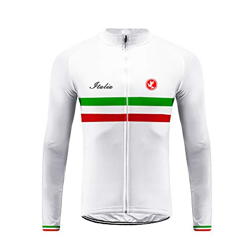 Uglyfrog Abbigliamento Ciclismo Uomo Ciclismo Magliette Italia Bandiera Nazionale Modello Striscia Maglia Traspirante Asciugatura Veloce Bicicletta Primavera Manica Lunga Top