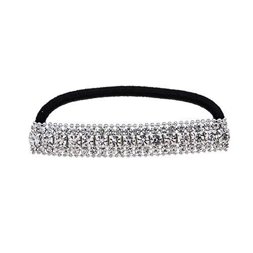 Casualfashion, fascia elastica per capelli con strass scintillanti, accessorio per capelli da donna, 1 pezzo