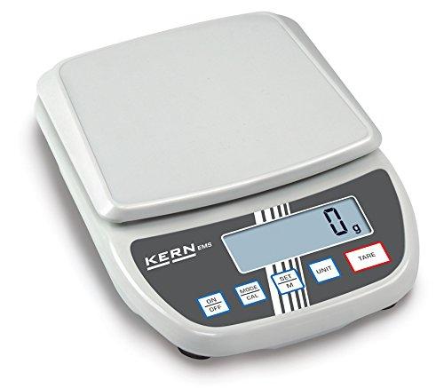 Balanza de laboratorio para principiantes con un gran plato de pesaje [Kern EMS 12K1] , Campo de pesaje [Max]: 12 kg, Lectura [d]: 1 g