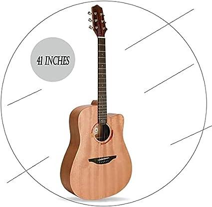 SLZFLSSHPK Guitarra acustica Guitarra Clasica Kit para Principiantes de Guitarra de Corte de Madera Maciza Hecha a Mano Dreadnought Gorgeous Tone Guitarra portátil de Viaje Mate, 3 Estilos(Color:C;Si