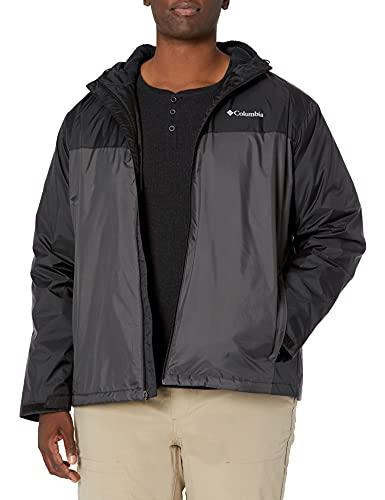 Columbia Men's Glennaker Faux Sherpa Lined Jacket, Black/Shark, Large