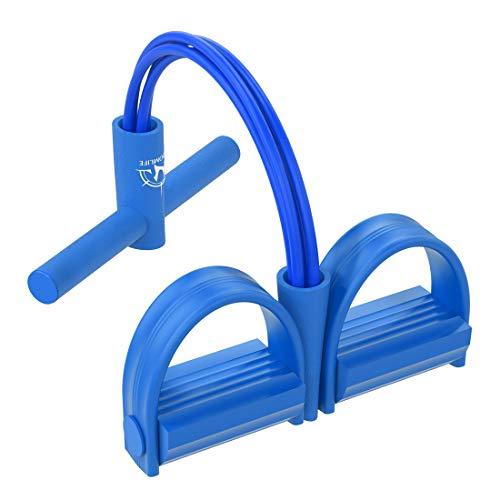WISDOMLIFE Widerstandsbänder, Resistance Fitnessgeräte für Zuhause, 4 Tube Multifunktionaler Sportgeräte, bis zu 50lbs, für Beintrainer Armtrainer Bauchtrainer (Blau)