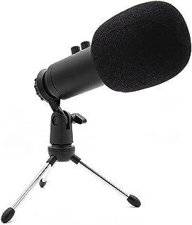 USB-studio cardioid microfoon met standfunctie volume instelbaar 33102