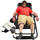 EZCHEER Zero Gravity Chair Oversized with Foot Rest Cushion, Support 400lbs 4 inch Wider Recliner, Comfortable Outdoor Patio Lawn Chair with Cup Holder and Headrest (Black)