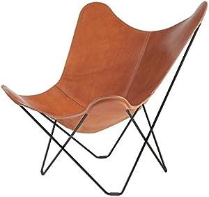 cuero Pampa Mariposa Butterfly Chair - Sillon marrón/Polo 66/armazón Negro