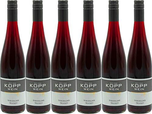 6x Gutsabfüllung Weingut Kopp Pfalz Dornfelder trocken Wein (rot) 2018 - Weingut Kopp, Pfalz - Rotwein