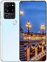 アンドロイド 10.0 5G モバイル 電話、 デュアル SIM 自由 ロック解除 スマートフォン と 6.6インチ HD +フル 画面、 指紋/面 ID、 12GB + 512G、 5000mAh 電池,White
