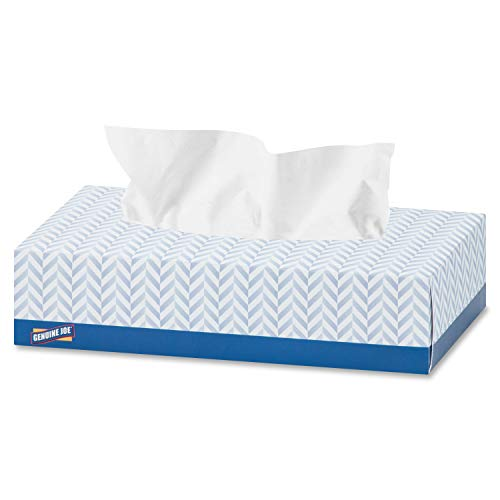 Genuine Joe GJO26100 Poly 2Ply Facial Tissue White Case of 30 Boxes 100 sheets per Box