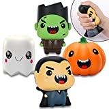 AYOGU Halloween Squishy Toys, Slow Rising Super Soft Stress Relief Squeeze Cute Halloween Themed Characters Toys Set for Boys Girls