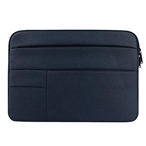 Universal Multiple Pockets Wearable Oxford Cloth Soft Portable Leisurely Laptop Tablet Bag, For 13.3 inch and Below durable (Color : Navy Blue)