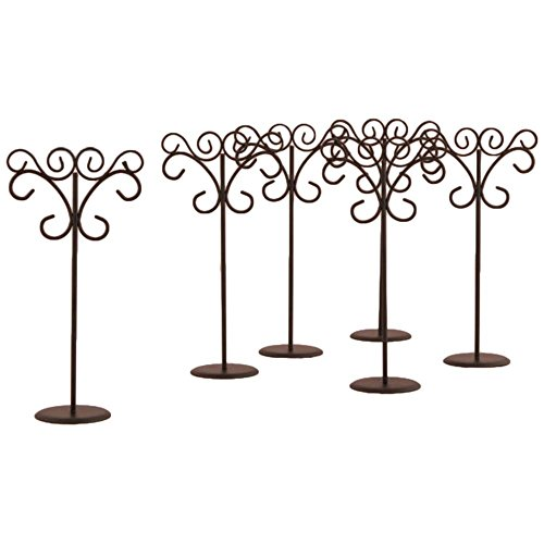 David's Bridal Ornamental Wire Table Card Holder Pack of 6