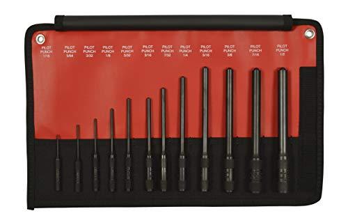 Mayhew Tools 62254 Pro Pilot Punch Kit, 12-Piece Set