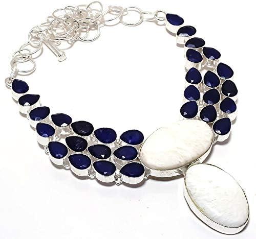 YUVI Max 72% OFF Scolecite Sapphire Gemstone Handmade N Sterling Award-winning store Silver 925