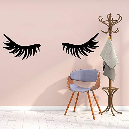 sxh28185232 Kreative Wimpern Schönheitssalon Wandkunst Aufkleber Dekoration Mode Aufkleber Kinderzimmer Hauptdekoration Vinyl Wand
